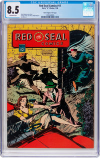 "Red Seal Comics #17 Davis Crippen (""D"" Copy) Pedigree (Chesler, 1946) CGC VF+ 8.5 Off-white pages"
