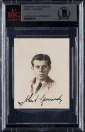 Miscellaneous Collectibles:General, Earliest Known President John F. Kennedy Signed Photograph, BVG Authentic.. ...