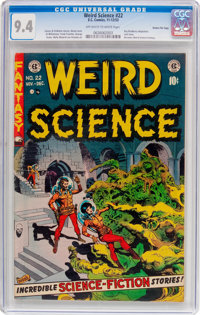 Weird Science #22 Gaines File Pedigree 8/11 (EC, 1953) CGC NM 9.4 Off-white to white pages