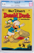 Golden Age (1938-1955):Humor, Four Color #394 Donald Duck (Dell, 1952) CGC NM 9.4 Off-white to white pages....