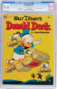 Four Color #394 Donald Duck (Dell, 1952) CGC NM 9.4 Off-white to white pages
