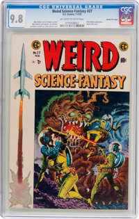 Weird Science-Fantasy #27 Gaines File Pedigree 7/12 (EC, 1955) CGC NM/MT 9.8 Off-white to white pages