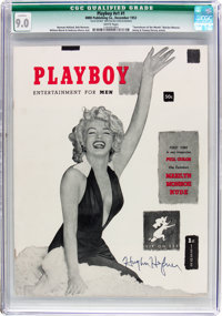 Playboy #1 Signed by Hugh Hefner (HMH Publishing, 1953) CGC Qualified VF/NM 9.0 White pages