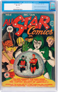 Golden Age (1938-1955):Superhero, All Star Comics #8 (DC, 1942) CGC VG- 3.5 Cream pages....