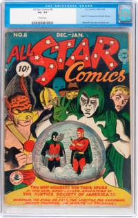 All Star Comics #8 (DC, 1942) CGC VG- 3.5 Cream pages