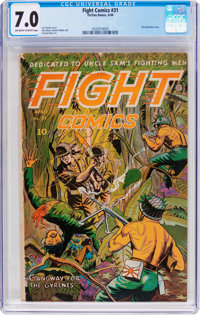 Fight Comics #31 (Fiction House, 1944) CGC FN/VF 7.0 Off-white to white pages