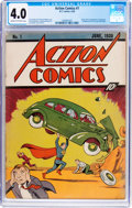 Golden Age (1938-1955):Superhero, Action Comics #1 (DC, 1938) CGC VG 4.0 Cream to off-white pages....