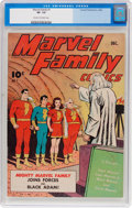Golden Age (1938-1955):Superhero, The Marvel Family #1 (Fawcett Publications, 1945) CGC VF- 7.5 Cream to off-white pages....