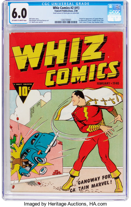 Whiz Comics #2 (#1) (Fawcett Publications, 1940) CGC FN 6.0 Off-white to white pages....
