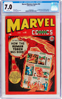Marvel Mystery Comics #92 (Timely, 1949) CGC FN/VF 7.0 White pages