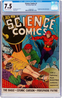 Science Comics #1 (Fox, 1940) CGC VF- 7.5 Off-white to white pages