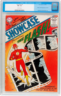 Showcase #4 The Flash (DC, 1956) CGC FN+ 6.5 Off-white pages