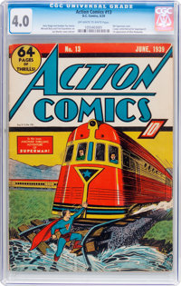 Action Comics #13 (DC, 1939) CGC VG 4.0 Off-white to white pages