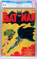 Golden Age (1938-1955):Superhero, Batman #1 (DC, 1940) CGC VG 4.0 Cream to off-white pages....