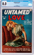 Golden Age (1938-1955):Romance, Untamed Love #3 (Quality, 1950) CGC VF 8.0 Off-white to white pages....