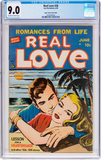 Real Love #26 Mile High Pedigree (Ace Periodicals, 1949) CGC VF/NM 9.0 Off-white to white pages