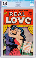 Golden Age (1938-1955):Romance, Real Love #25 Mile High Pedigree (Ace Periodicals, 1949) CGC VF/NM 9.0 White pages....