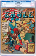 Golden Age (1938-1955):Superhero, The Eagle #4 (Fox, 1942) CGC GD/VG 3.0 Cream to off-white pages....