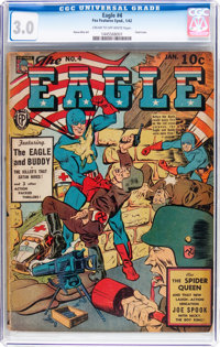 The Eagle #4 (Fox, 1942) CGC GD/VG 3.0 Cream to off-white pages