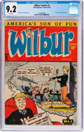 Golden Age (1938-1955):Humor, Wilbur Comics #5 (Archie, 1945) CGC NM- 9.2 White pages....