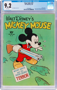 Four Color #27 Mickey Mouse (Dell, 1943) CGC NM- 9.2 White pages