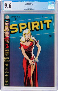 The Spirit #22 (Quality, 1950) CGC NM+ 9.6 White pages