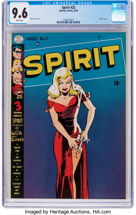 The Spirit #22 (Quality, 1950) CGC NM+ 9.6 White pages....