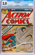 Golden Age (1938-1955):Superhero, Action Comics #15 (DC, 1939) CGC GD 2.0 Slightly brittle pages....
