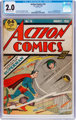 Action Comics #15 (DC, 1939) CGC GD 2.0 Slightly brittle pages