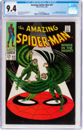 Silver Age (1956-1969):Superhero, The Amazing Spider-Man #63 (Marvel, 1968) CGC NM 9.4 Off-white towhite pages....