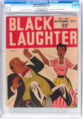 Magazines:Humor, Black Laughter #1 (Black Laughter Publishing, 1972) CGC NM- 9.2Off-white to white pages....