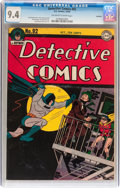 Golden Age (1938-1955):Superhero, Detective Comics #92 Rockford pedigree (DC, 1944) CGC NM 9.4 Off-white to white pages....
