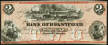 Canadian Currency, Sault St. Marie, CW- Bank of Brantford $2 Nov. 1, 1859 Ch. #40-12-04R Remainder. ...