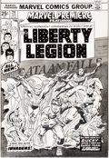 Original Comic Art:Covers, Jack Kirby and Frank Giacoia Marvel Premiere #29 Cover Bucky and the Liberty Legion Original Art (Marvel, 1976)....