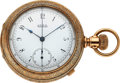 Timepieces:Pocket (pre 1900) , Waltham Very Fine 14 Size Chronograph. ...