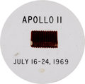 Explorers:Space Exploration, Apollo 11 Flown Ablative Plug in Acrylic Display....