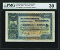 World Currency, Australia Commonwealth of Australia £100 ND (1924) Pick 9b R69a.....