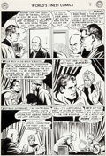 Original Comic Art:Panel Pages, Curt Swan and Stan Kaye World's Finest Comics #73 Page 8Original Art (DC, 1954)....