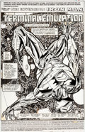 Original Comic Art:Splash Pages, Tom Morgan Iron Man #308 Splash Page 1 Original Art (Marvel,1994)....
