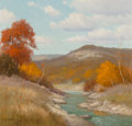 Fine Art - Painting, American, Porfirio Salinas (American, 1910-1973). Texas in the Fall,1972. Oil on canvas. 20 x 24 inches (50.8 x 61.0 cm). Signed ...