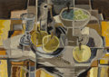 Fine Art - Painting, American, Mary Doyle (American, 1904). Still Life #4, 1954. Oil onMasonite. 14 x 20 inches (35.6 x 50.8 cm). Signed and dated low...