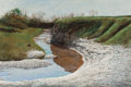 Fine Art - Painting, American, Daniel Blagg (American, b. 1951). Fossil Creek. Oil oncanvas. 24-1/4 x 36 inches (61.6 x 91.4 cm). Signed lower right:...