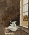 Works on Paper, Dennis Blagg (American, b. 1951). Pitcher and Bowl. Watercolor on paper. 20-1/4 x 16-1/4 inches (51.4 x 41.3 cm) (sight)...