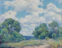 Eleanor Rogers Onderdonk (American, 1886-1986) Summer in the Hill Country, 1929 Oil on canvas laid o