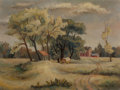 Paintings, Bror Utter (American, 1913-1993). The Farm. Oil on canvasboard. 9 x 12 inches (22.9 x 30.5 cm). Signed lower right: Br...