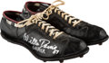 Football Collectibles:Others, 1960's Willie Davis Game Issued, Signed Green Bay Packers Cleats....