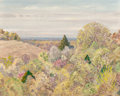 Fine Art - Painting, American, Olin Travis (American, 1888-1975). Spring Time Near Canton.Oil on canvasboard. 15-3/4 x 19-1/2 inches (40.0 x 49.5 cm)...