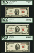 Small Size, Fr. 1509 $2 1953 Legal Tender Note. PCGS Very Choice New 64PPQ;. Fr. 1509* $2 1953 Legal Tender Star Notes. Two Examples. ... (Total: 3 notes)