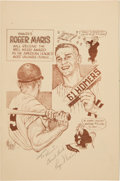Autographs:Others, 1962 Roger Maris Signed Baseball Writers Association of America 23rd Annual Dinner Program....