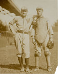 Baseball Collectibles:Photos, 1911 Walter Johnson & Gabby Street Original Photograph by VanOeyen, PSA/DNA Type 1.. ...